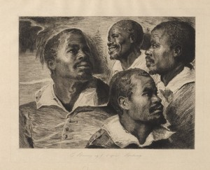 Four Studies of the Head of a Black Man (x1952-46)